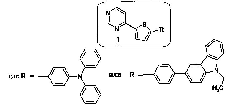 Применение 4-(5-r-тиофен-2-ил)пиримидина в качестве мономолекулярного оптического сенсора для обнаружения нитроароматических соединений