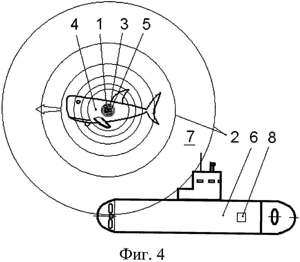 Способ имитации присутствия подвижного подводного аппарата