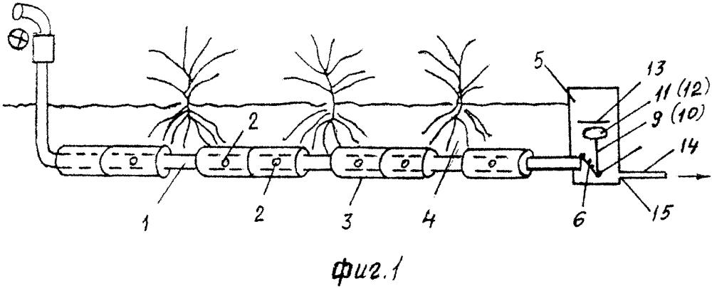 Устройство для подпочвенного орошения при выращивании влаголюбивых растений