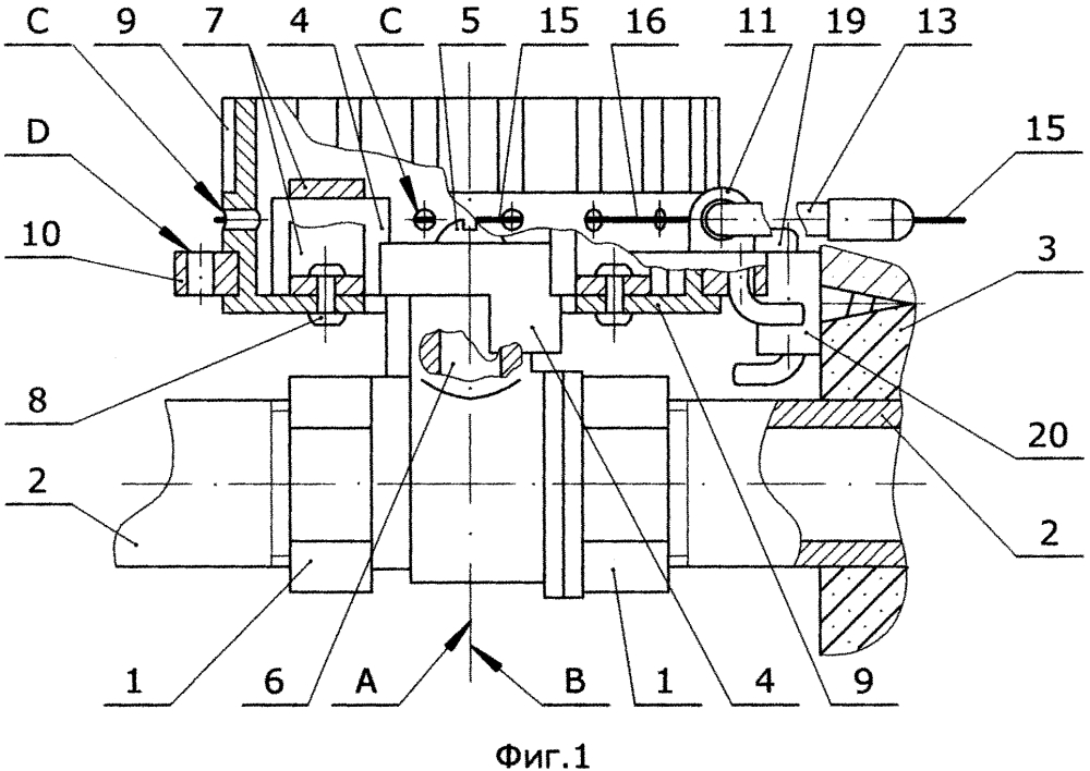 Механическая передача движения на вал штатной трубопроводной арматуры