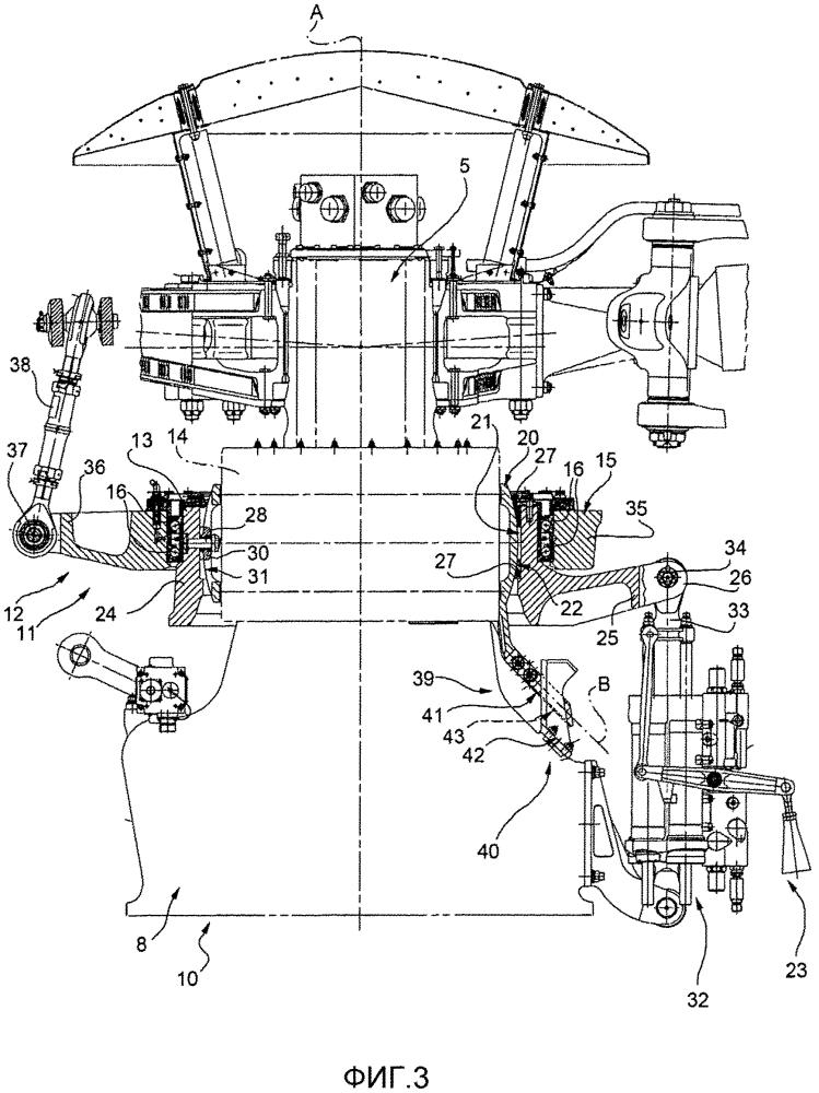 Узел винта для летательного аппарата, выполненного с возможностью висения и оснащенного усовершенствованным узлом механической связи