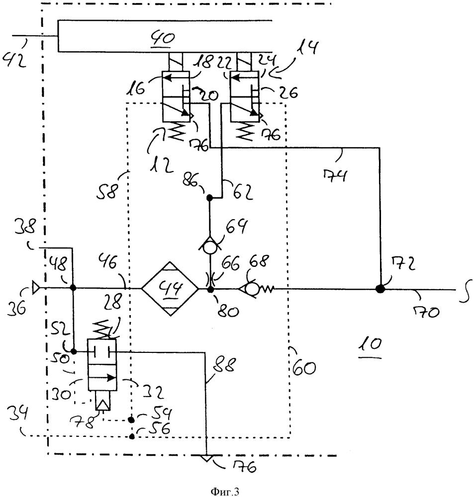 Устройство подготовки сжатого воздуха для транспортного средства и способ эксплуатации устройства подготовки сжатого воздуха