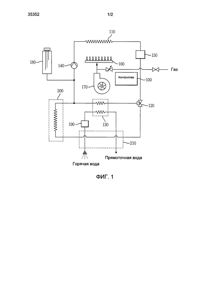 Способ защиты от замерзания нагревательной трубы и трубы горячего водоснабжения водонагревателя
