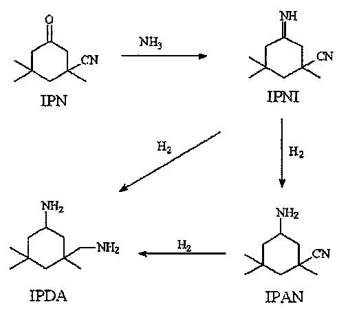 Способ получения 3-аминометил-3,5,5-триметилциклогексиламина