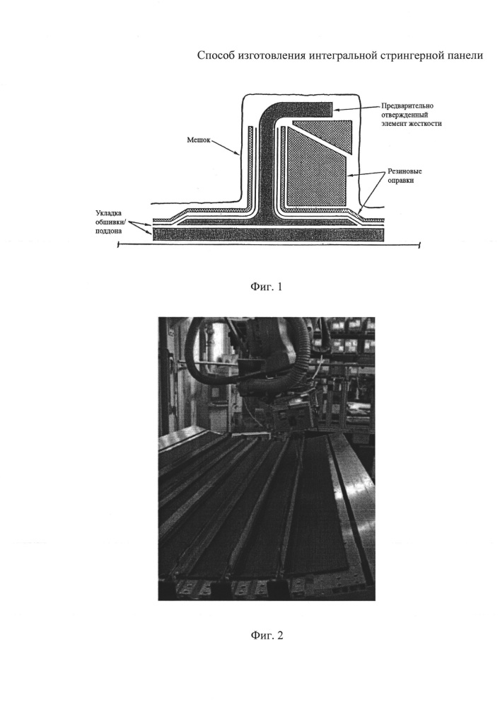 Способ изготовления интегральной стрингерной панели