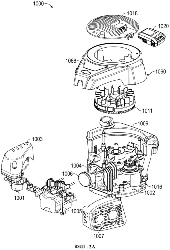 Двигатель внутреннего сгорания, содержащий электрическую систему запуска, питаемую литий-ионным аккумулятором