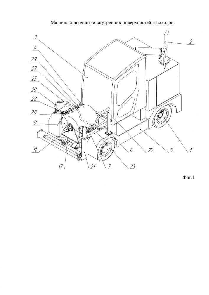 Машина для очистки внутренней поверхности газоходов