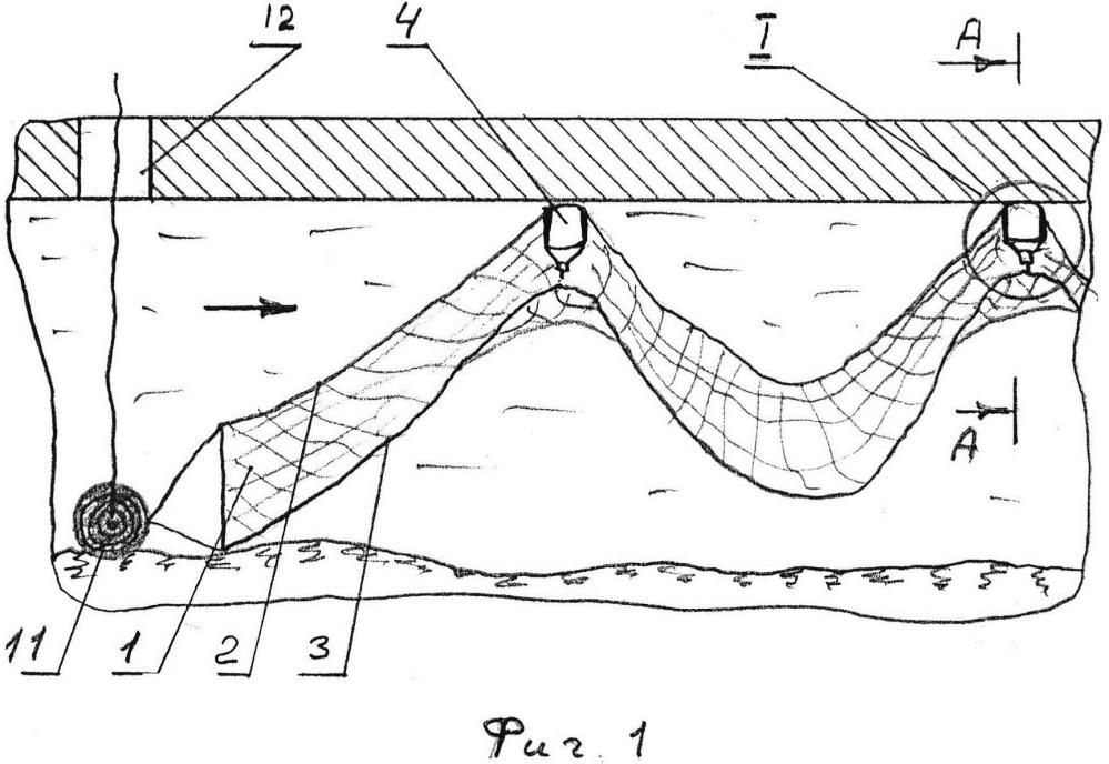 Способ и устройство для установки сети под лёд девяткина в.д.