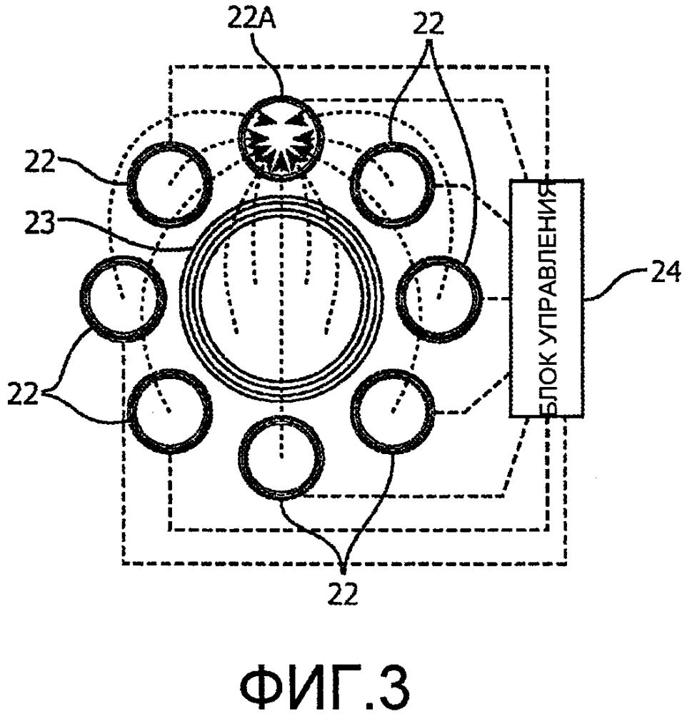Катушечная система зарядки для вставляемого целевого устройства, например зубной щетки