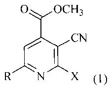 Способ получения метилового эфира 2-галоген-6-алкил-3-цианоизоникотиновых кислот