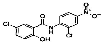Противоопухолевое лекарственное средство на основе никлозамида
