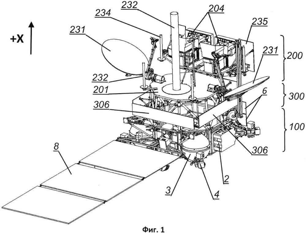 Космический аппарат, его модуль полезной нагрузки и модуль служебных систем