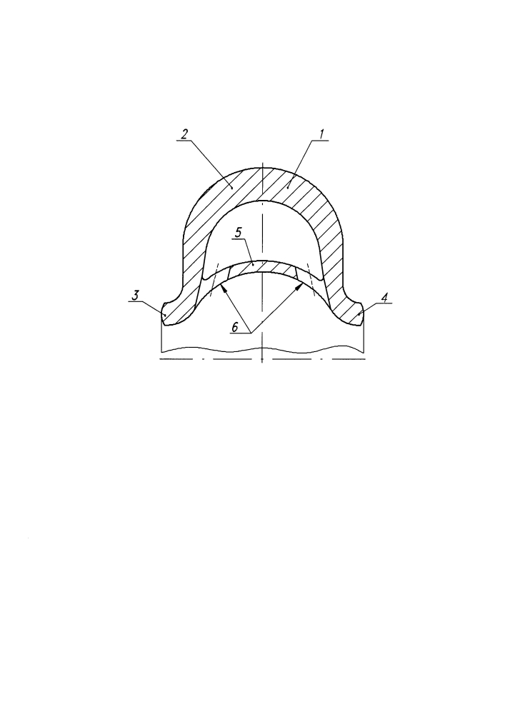 Упругая самоуплотняющаяся металлическая прокладка