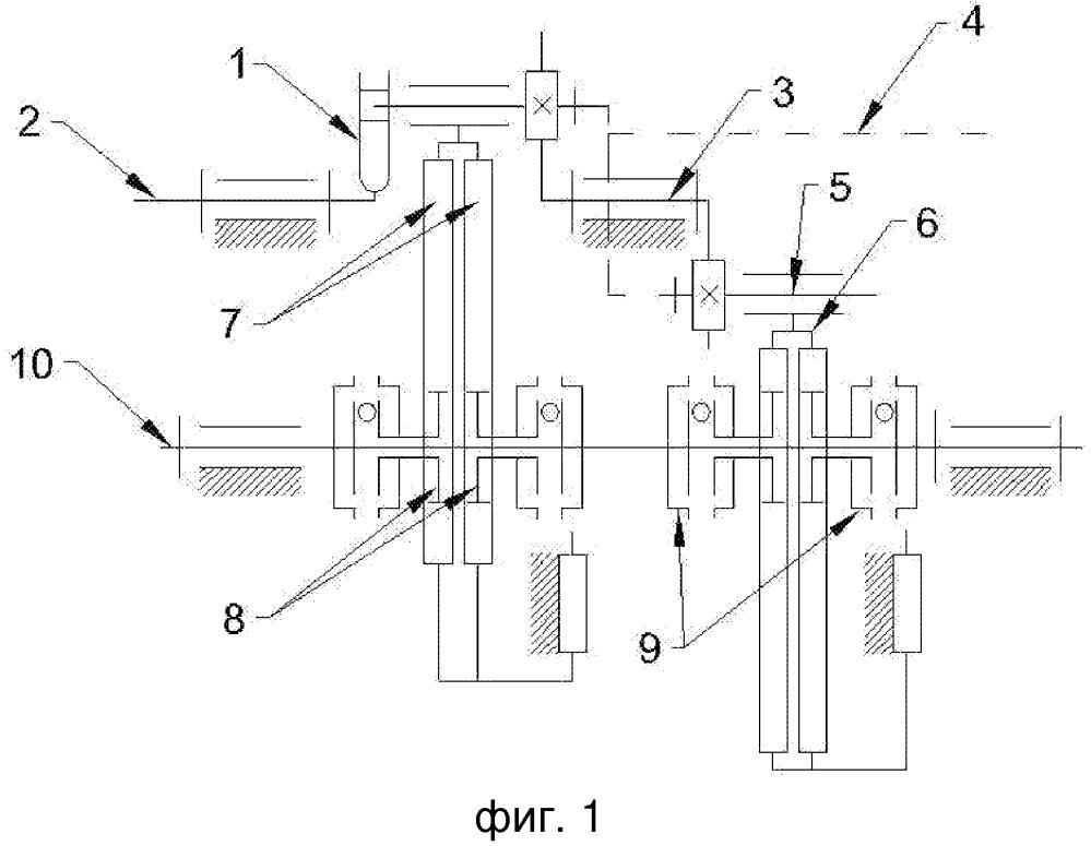 Реечный импульсный вариатор с одновальным выпрямителем