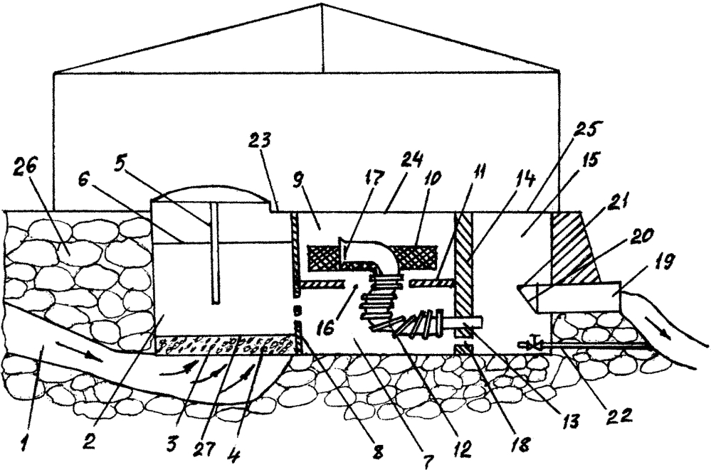 Автоматический водоприемник для забора подземной родниковой воды