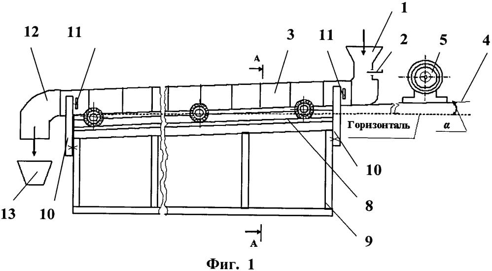 Способ вибрационного транспортирования фуражного зерна и других сыпучих материалов