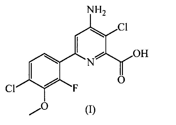 Гербицидная композиция, содержащая 4-амино-3-хлор-6-(4-хлор-2-фтор-3-метоксифенил)пиридин-2-карбоновую кислоту или ее производное и флуроксипир или его производные