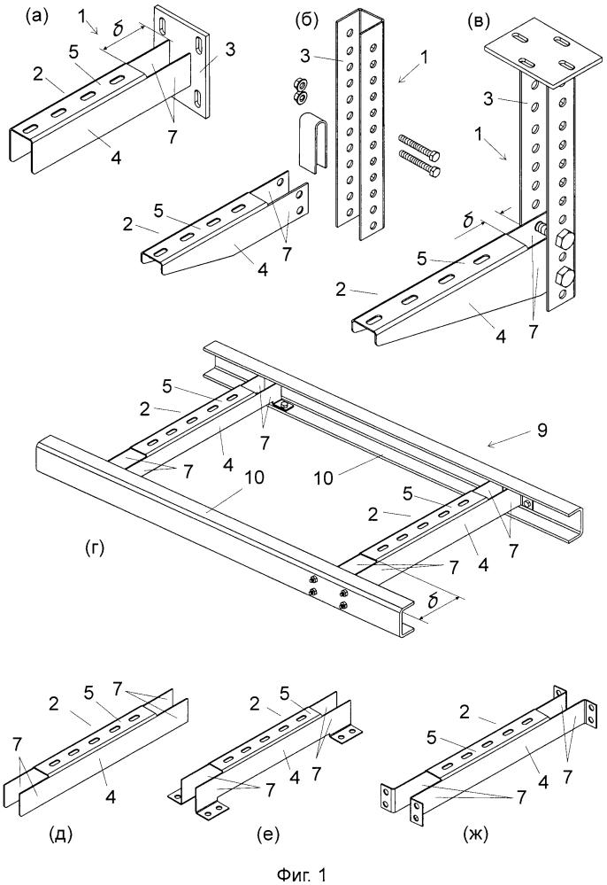 Кабельная конструкция (варианты), кабельный лоток (варианты), опорный элемент и способы изготовления опорного элемента