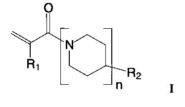 Амиды акриловой и метакриловой кислот с олигопиперидинами и способ их получения