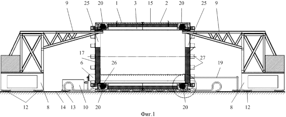 Установка для центробежного литья цилиндрических оболочек