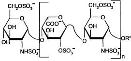 Неантикоагулянтные гликозаминогликаны, содержащие повторяющиеся дисахаридные звенья, и их медицинское применение