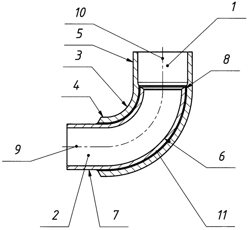 Трубчатый биметаллический переходник