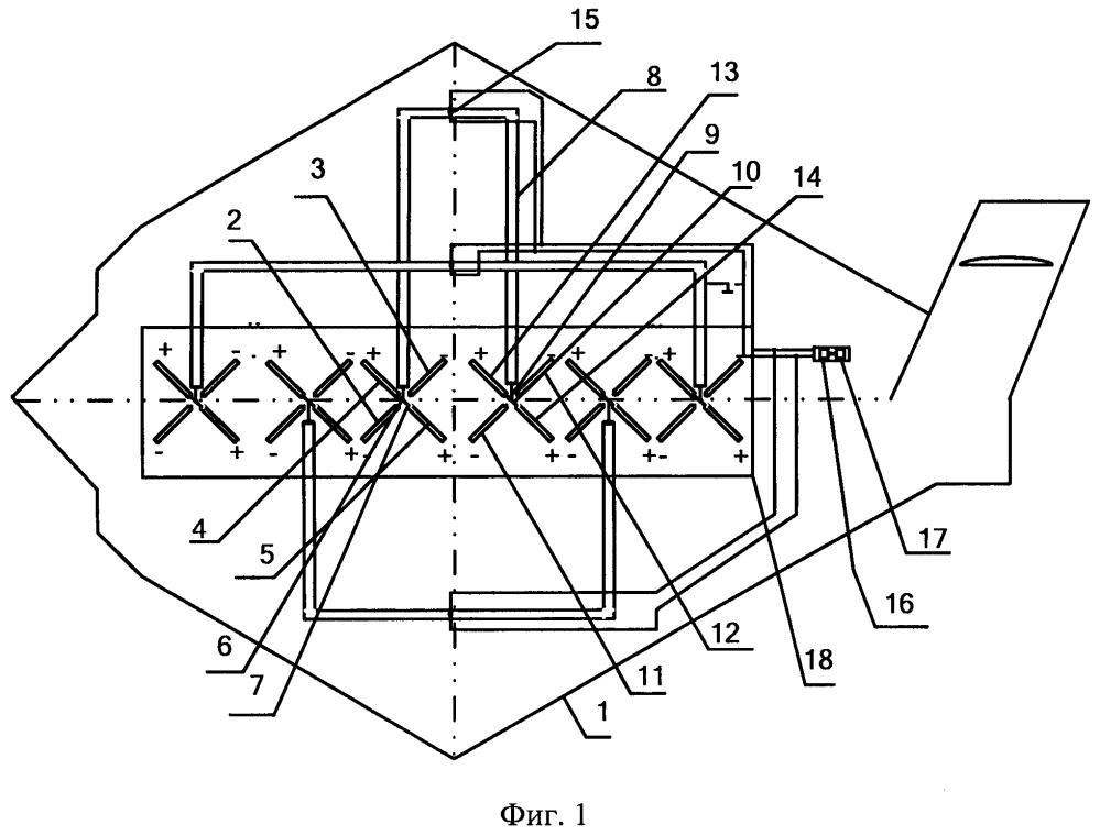 Приемопередающая антенная решетка модуля позиционирования и дальней связи мобильного многофункционального аппаратно-программного комплекса длительного кардиомониторирования и эргометрии