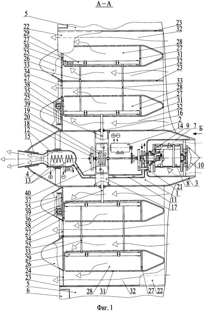 Атмосферный компрессорно-реактивный летательный аппарат
