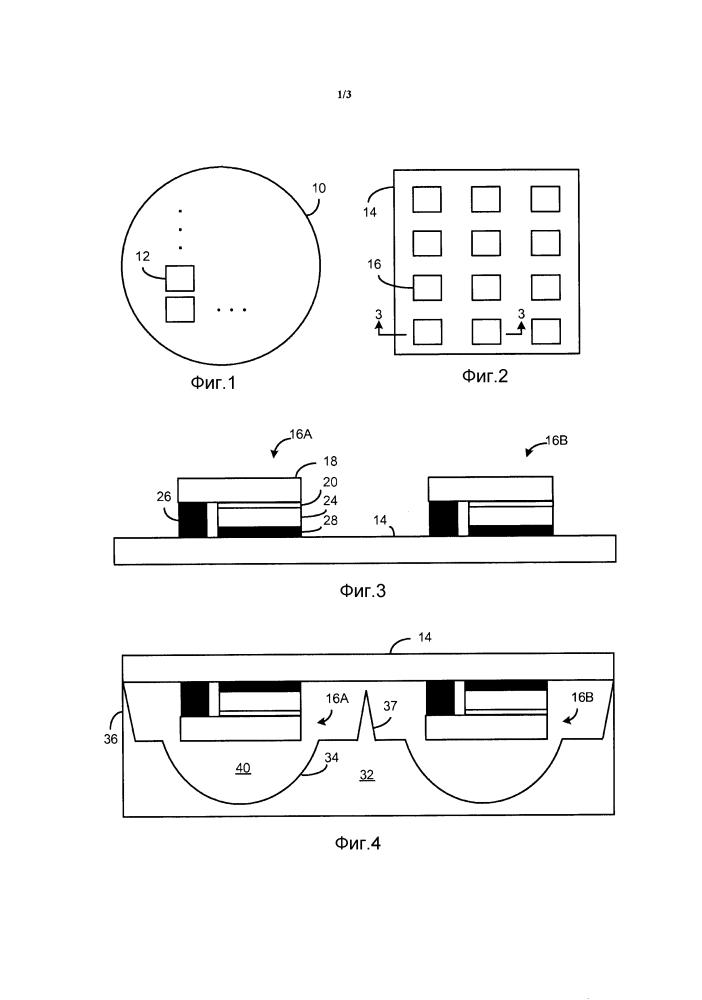 Прессованная линза, формирующая led-модуль масштаба интегральной схемы, и способ ее изготовления