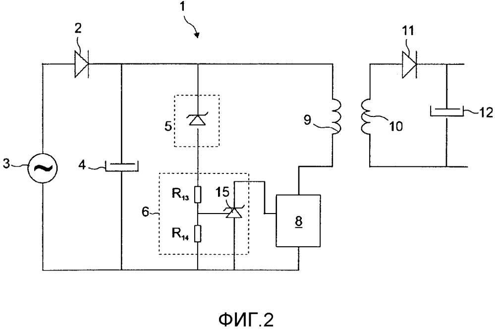Схема защиты от перенапряжения и энергосбережения для импульсного источника электропитания