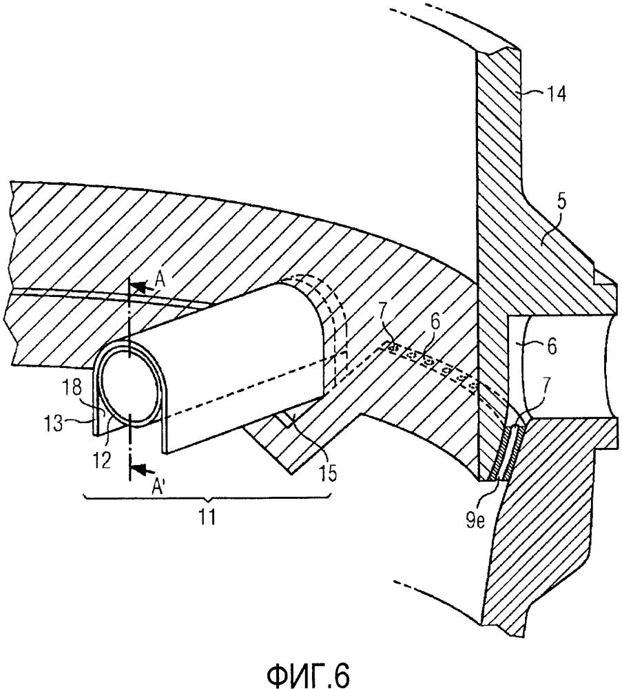 Устройство и способ для поверхностной обработки газом в шахте восстановительного реактора