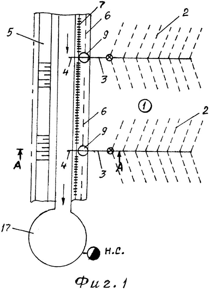 Способ устройства осушительно-увлажнительной системы в условиях использования полива дождевальной установкой животноводческими стоками