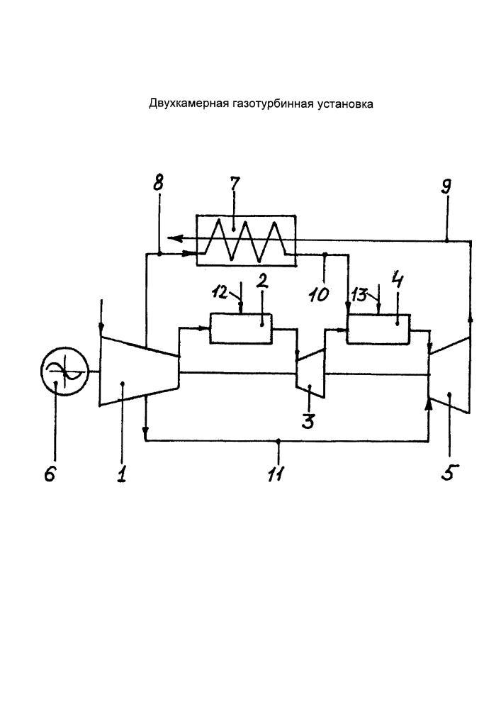 Двухкамерная газотурбинная установка