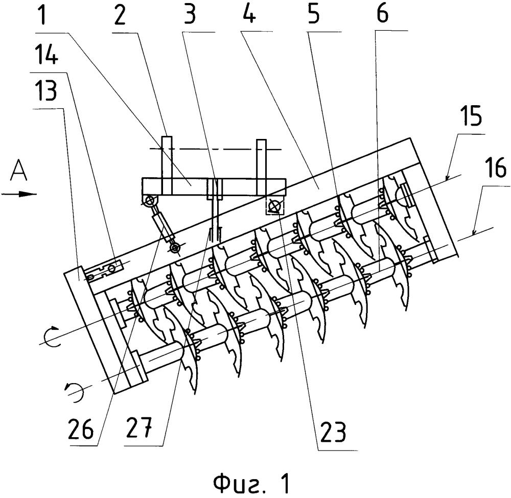 Борона дисковая двухследная навесная
