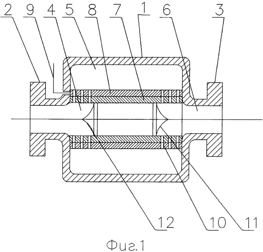 Регулирующий клапан прямоточного типа