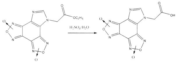 Способ получения n-карбэтоксиметилимидазо[4,5-е]бензо[1,2-с;3,4-с]дифуроксана