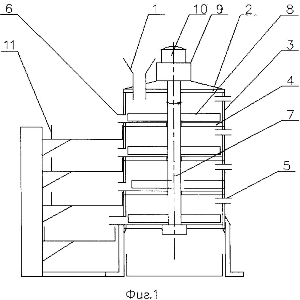Устройство для термического разрушения и классификации старого асфальта