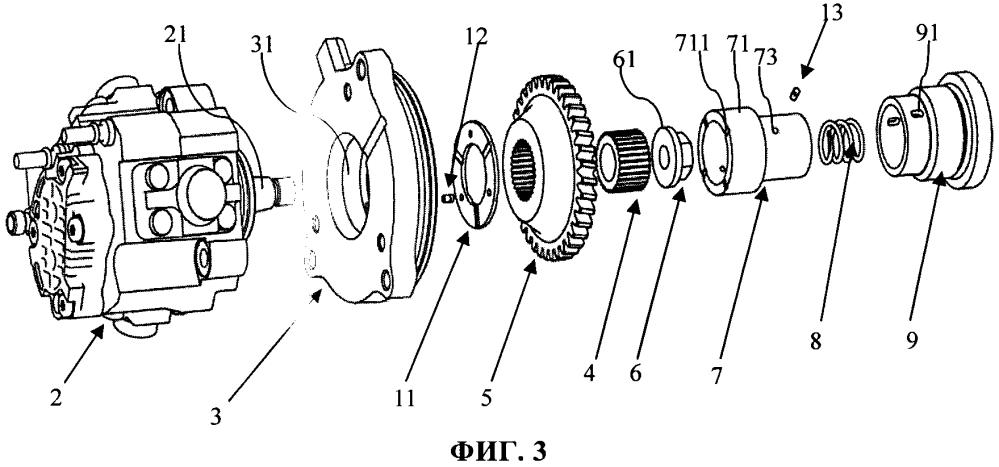 Приводная конструкция топливного насоса высокого давления