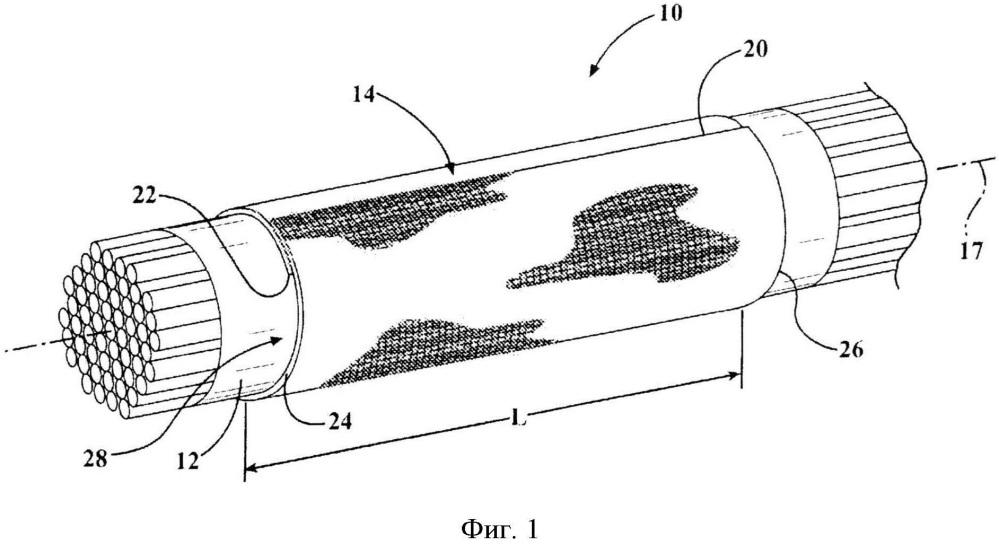 Надеваемая защитная текстильная оболочка для защиты удлиненных объектов и способ ее изготовления