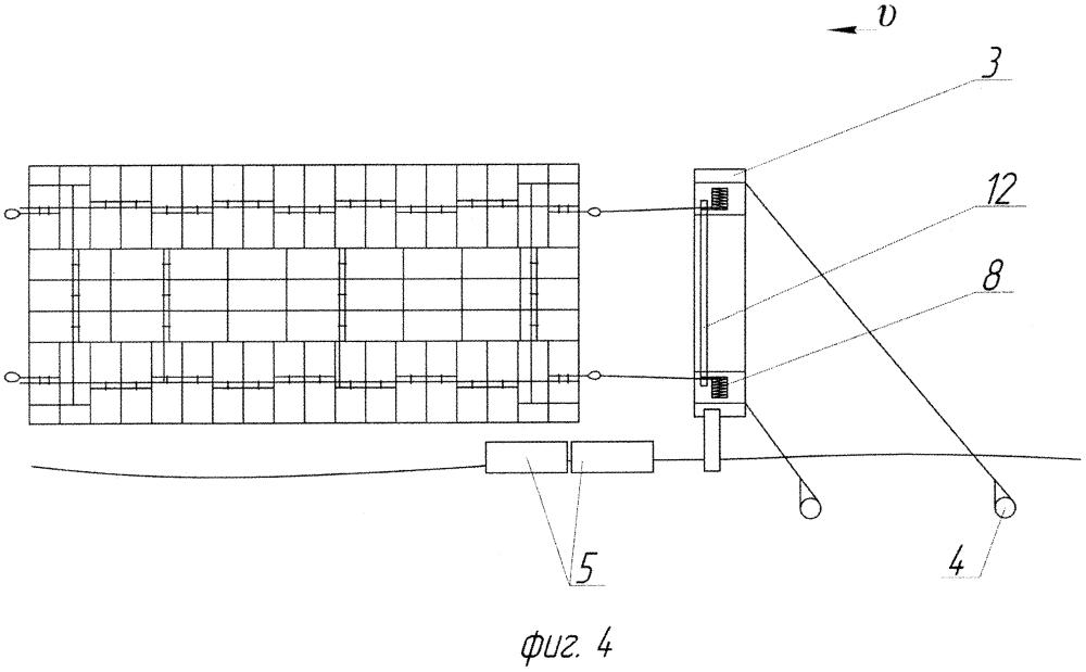 Способ формирования секций малогабаритных плотов на минирейде