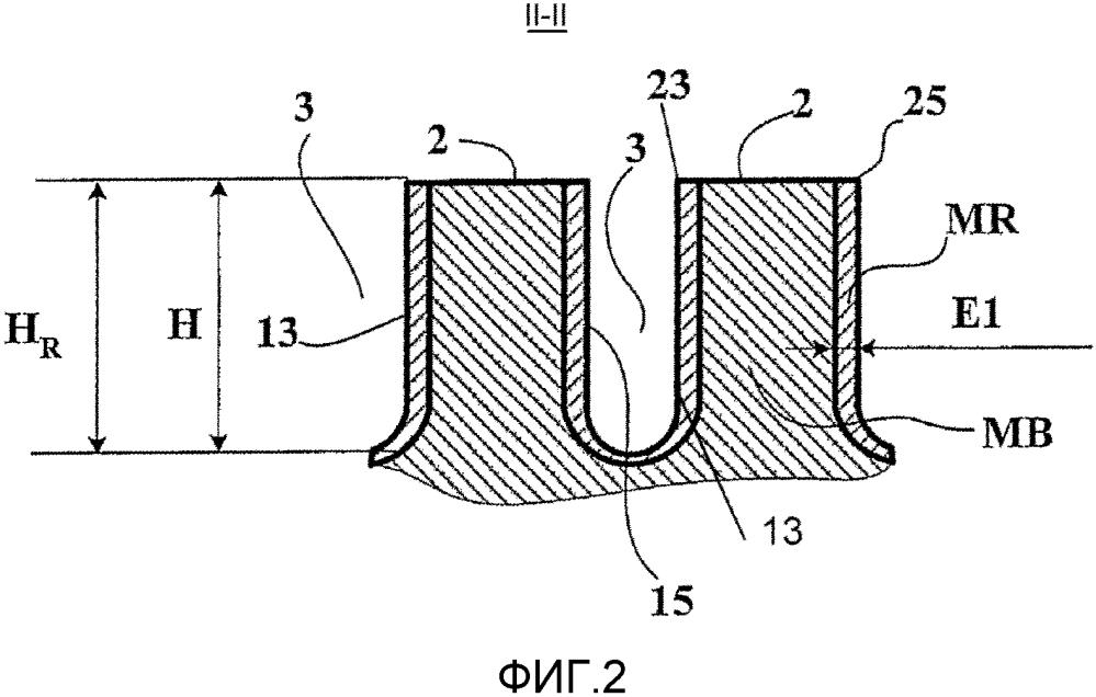 Протектор, содержащий рельефные элементы, покрытые термопластичным материалом