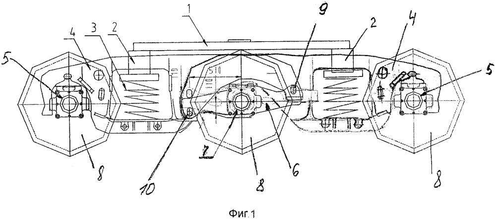 Трехосная тележка рельсового транспортного средства
