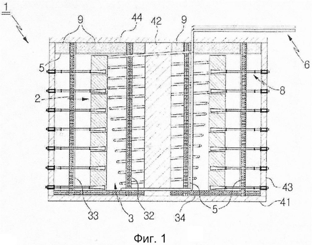 Металлическое устройство для аккумулирования тепловой энергии