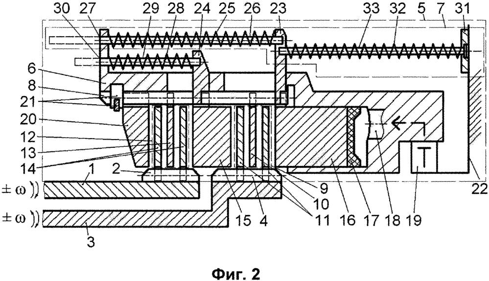 Бесфлаттерная многодисковая фрикционная муфта для соединения валов привода с возможностью разнонаправленного их вращения