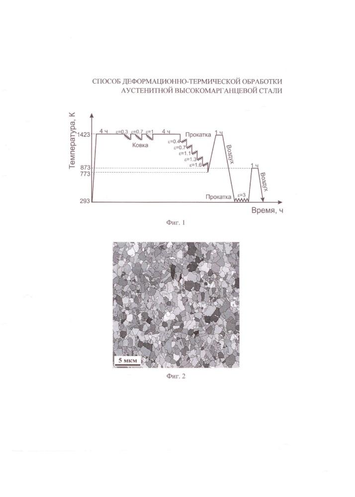 Способ деформационно-термической обработки аустенитной высокомарганцевой стали