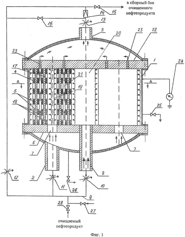 Устройство для фильтрации жидких нефтепродуктов