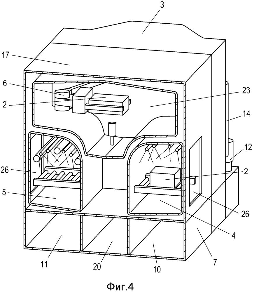 Очистительная установка для деталей, изготавливаемых промышленным способом