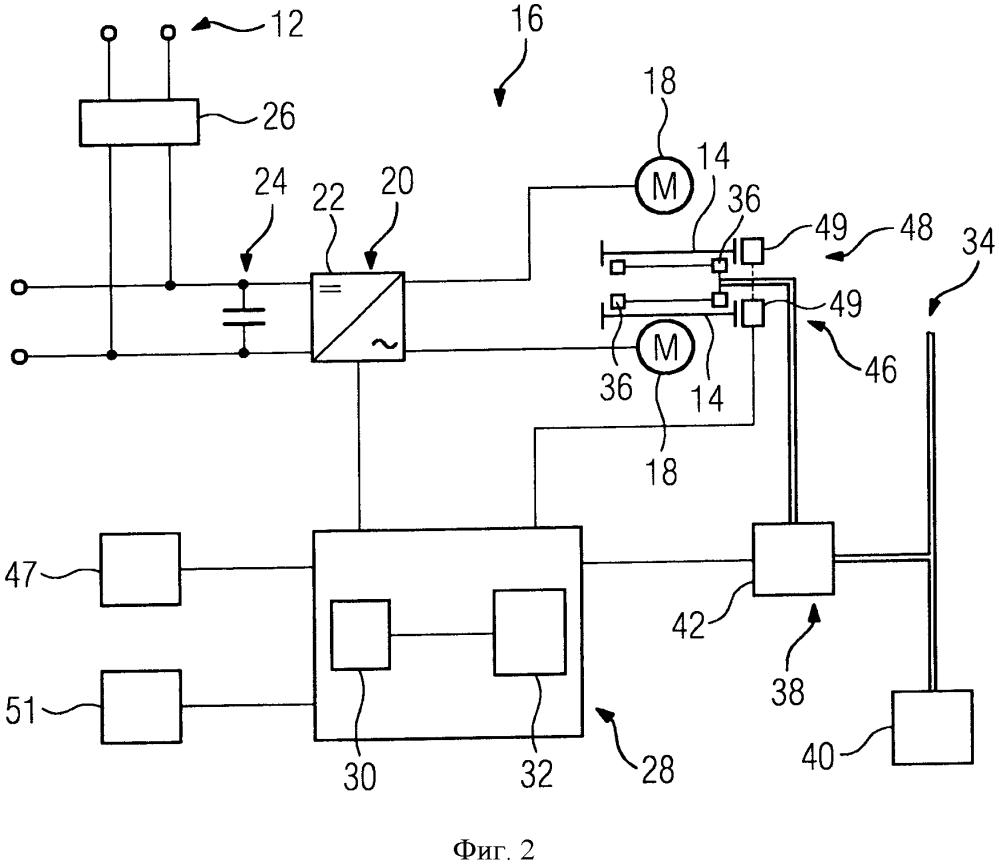 Устройство для управления приводным механизмом рельсового транспортного средства