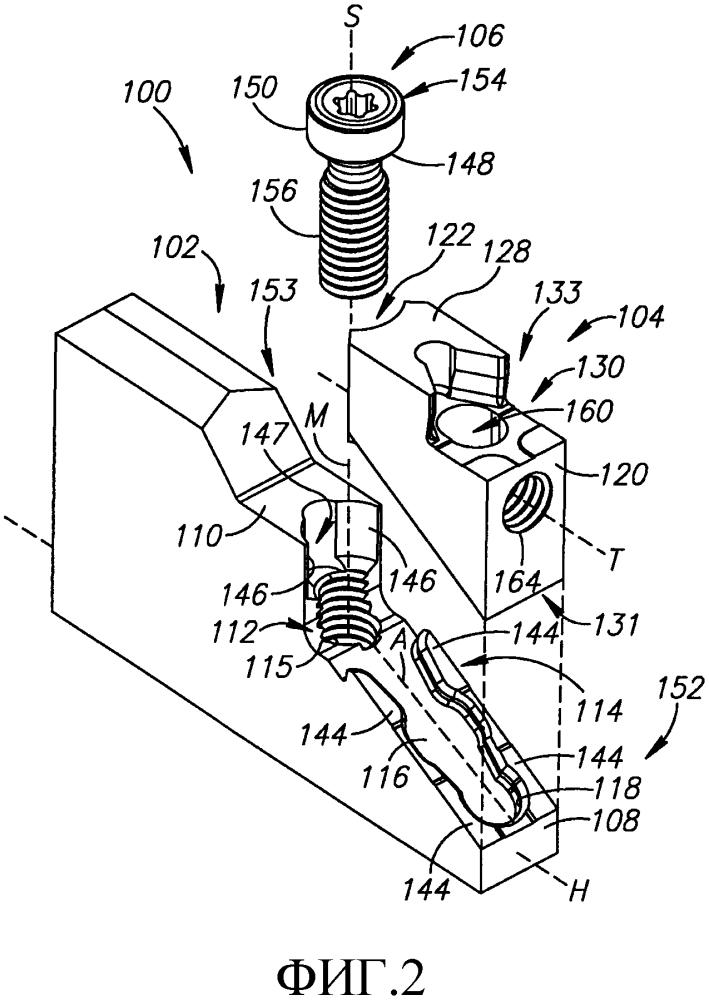 Сборный режущий инструмент со съемной инструментальной головкой
