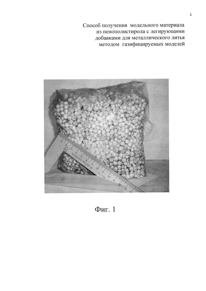 Способ получения модельного материала из пенополистирола с легирующими добавками для металлического литья методом газифицируемых моделей